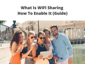 how to enable wifi sharing