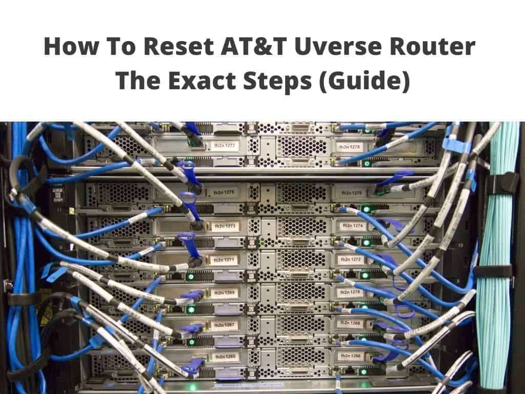 Reset AT&T Uverse Router