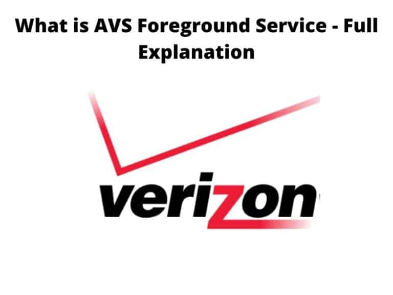 What is AVS Foreground Service