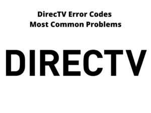DirecTV Error Codes