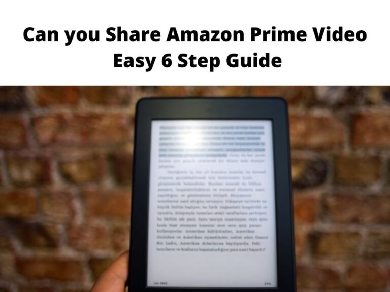 Can you Share Amazon Prime Video