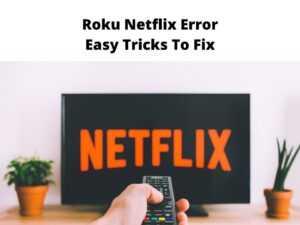 Roku Netflix Error Easy Tricks To Fix