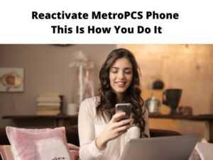 Reactivate MetroPCS phone