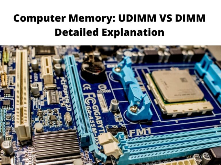 Computer Memory UDIMM VS DIMM Detailed Explanation
