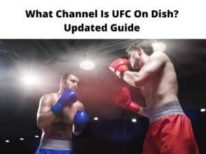 What Channel Is UFC On Dish